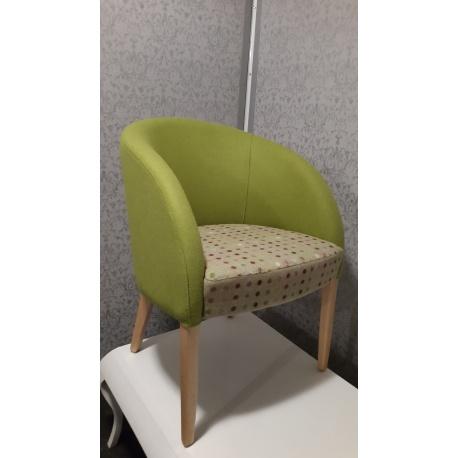 ref 1202016 Sillon tapizado, para bar, hoteles, geriatricos, madera haya gran variedad en telas