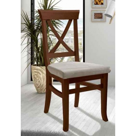ref 92530 silla curz tapizada para restaurantes, hoteles, bares
