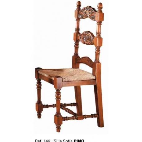 ref 921461 silla rustica asiento enea para restaurantes