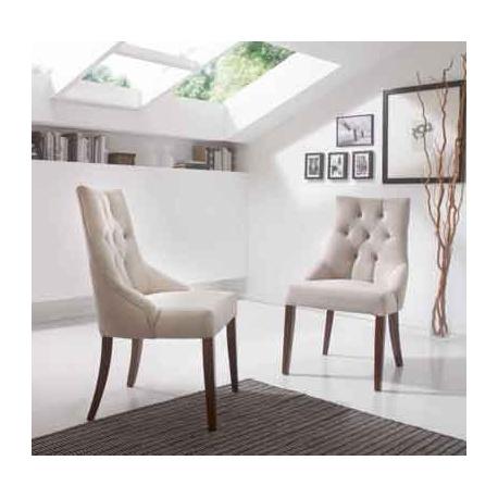 Ref. 92589 silla 589 haya tapizada opcional ignifuga y telas lavables, para restaurantes