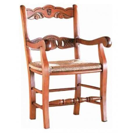 ref 92152 sillon rustico asiento enea